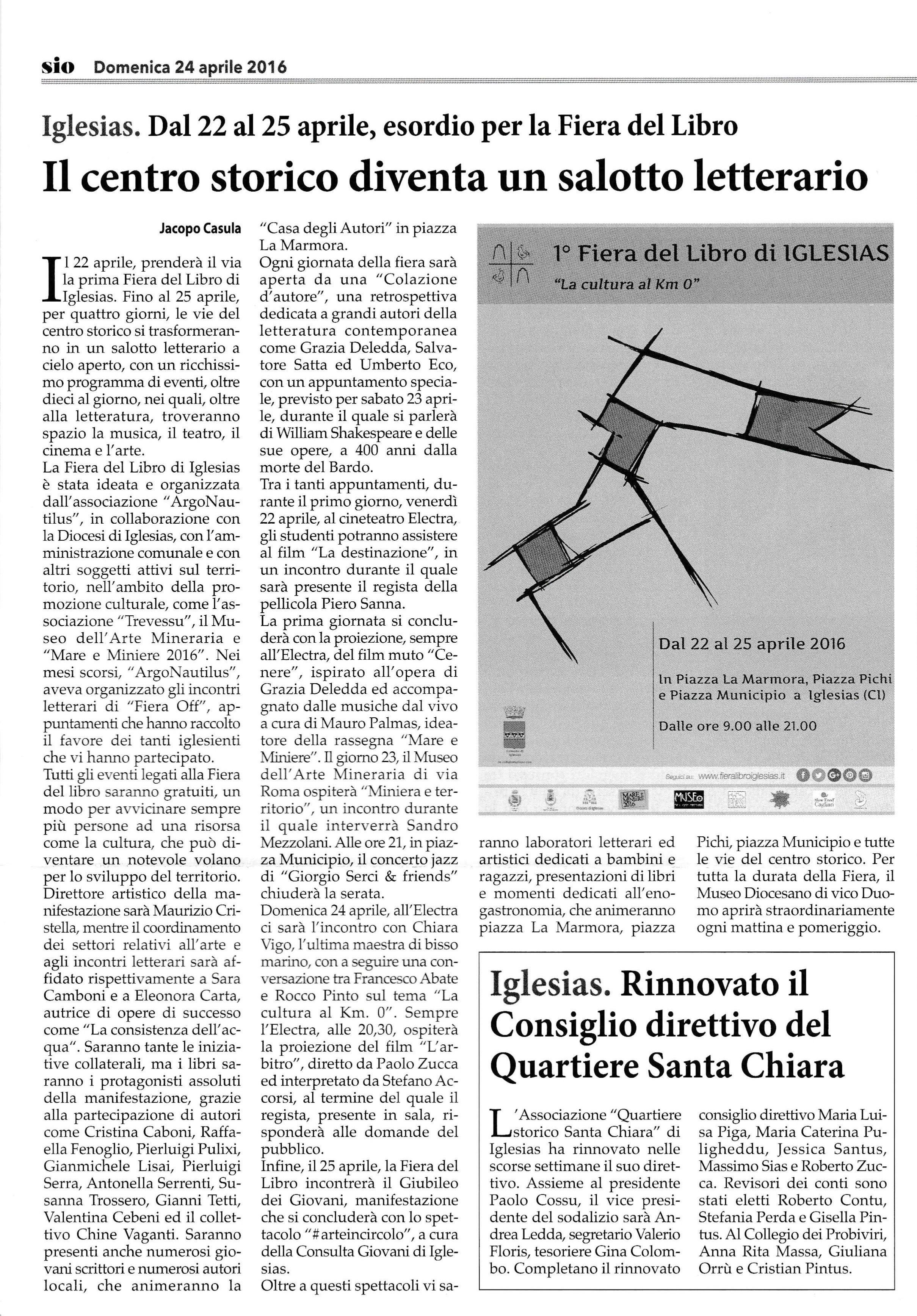 Sulcis Iglesiente Oggi 24.04.2016